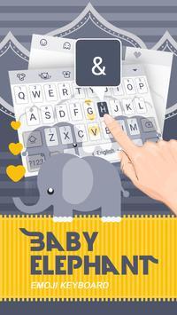Baby Elephant Theme&Emoji Keyboard apk screenshot