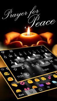 Pray For Peace Theme&Emoji Keyboard poster