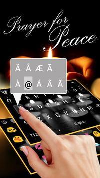 Pray For Peace Theme&Emoji Keyboard apk screenshot