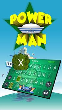 Power Man Theme&Emoji Keyboard poster