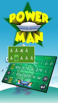 Power Man Theme&Emoji Keyboard apk screenshot