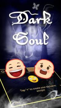 Dark Soul Theme&Emoji Keyboard apk screenshot