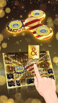 USA Spinner Theme&Emoji Keyboard poster