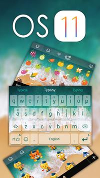 OS 11 Theme&Emoji Keyboard poster