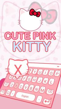 Cute pink Kitty poster