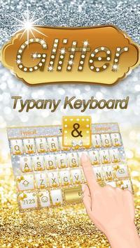 Gold Silver Glitter Theme&Emoji Keyboard poster