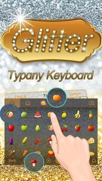 Gold Silver Glitter Theme&Emoji Keyboard apk screenshot