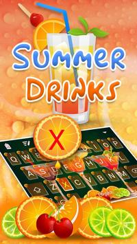 Summer Drink Theme&Emoji Keyboard poster