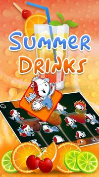 Summer Drink Theme&Emoji Keyboard apk screenshot