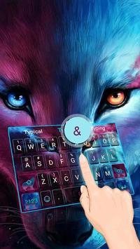 Wolf Cool Theme&Emoji Keyboard poster