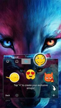 Wolf Cool Theme&Emoji Keyboard screenshot 3