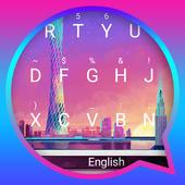 Peaceful City Theme&Emoji Keyboard icon