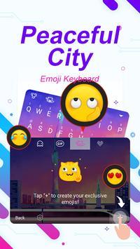 Peaceful City Theme&Emoji Keyboard apk screenshot