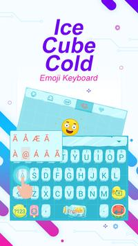 Ice Cube Cold Theme&Emoji Keyboard apk screenshot
