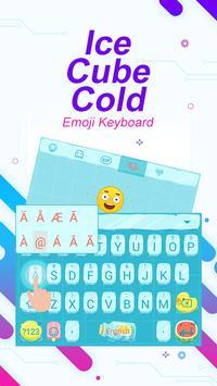 Ice Cube Cold Theme&Emoji Keyboard screenshot 1