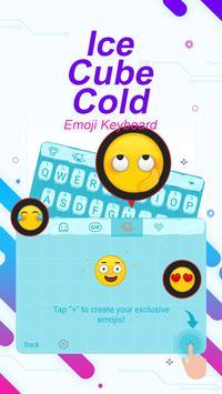 Ice Cube Cold Theme&Emoji Keyboard screenshot 3