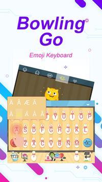 Bowling Go Theme&Emoji Keyboard screenshot 1