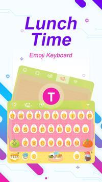 Lunch Time Theme&Emoji Keyboard poster