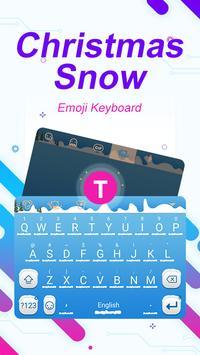 Christmas Snow Theme&Emoji Keyboard poster