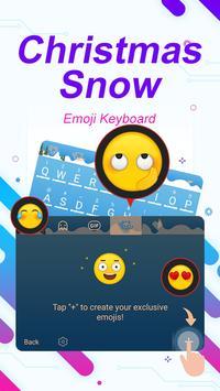 Christmas Snow Theme&Emoji Keyboard apk screenshot