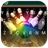 Bowling Theme&Emoji Keyboard icon