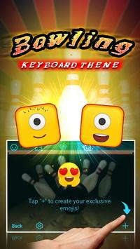 Bowling Theme&Emoji Keyboard screenshot 2