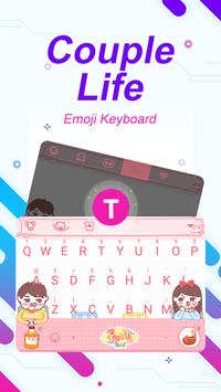 Couple Life Theme&Emoji Keyboard poster