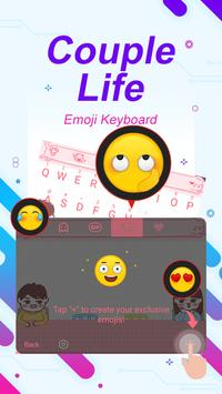 Couple Life Theme&Emoji Keyboard apk screenshot