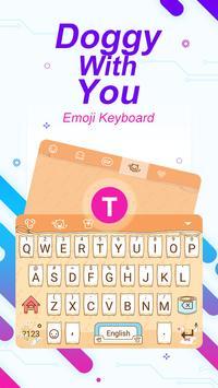 Doggy With You Theme&Emoji Keyboard poster