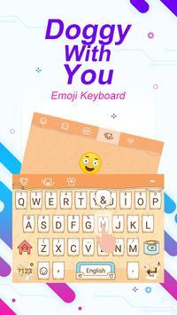Doggy With You Theme&Emoji Keyboard apk screenshot