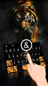 Tiger Theme&Emoji Keyboard poster