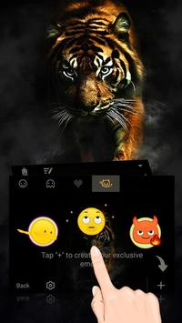 Tiger Theme&Emoji Keyboard apk screenshot