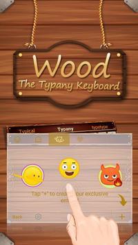 Classical Wood Simple Theme&Emoji Keyboard apk screenshot