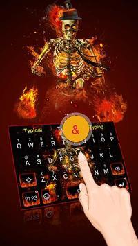 Fire Skull Keyboard Theme poster