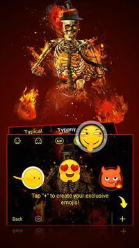 Fire Skull Keyboard Theme apk screenshot