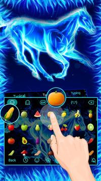 Blue Flaming Horse Keyboard Theme screenshot 2