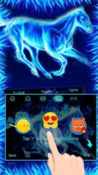Blue Flaming Horse Keyboard Theme screenshot 3