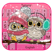 Pink Cute Owl icon