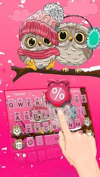 Pink Cute Owl poster