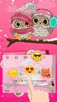 Pink Cute Owl screenshot 3