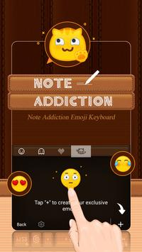 Note Addiction Theme&Emoji Keyboard apk screenshot