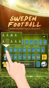 Sweden Football Theme&Emoji Keyboard screenshot 1