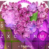 Purple Lilac Flower Theme&Emoji Keyboard icon