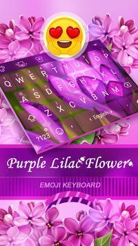 Purple Lilac Flower Theme&Emoji Keyboard poster