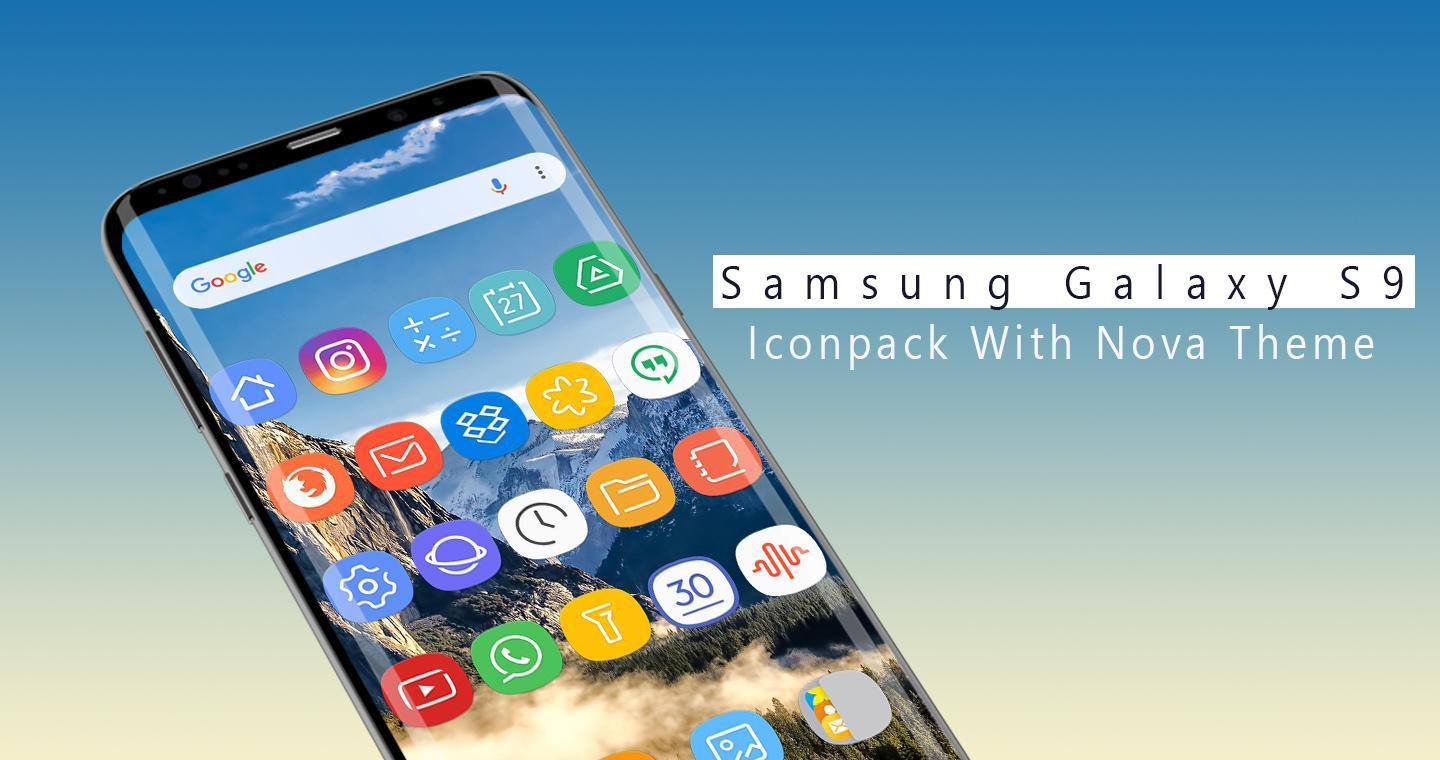 Icon pack for Samsung Galaxy S9 - Nova Launcher for Android