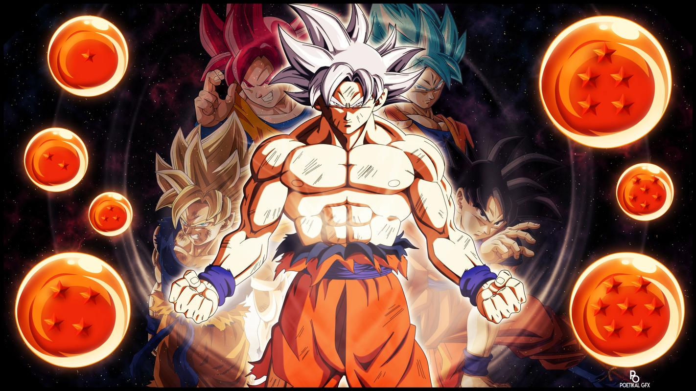 Goku Ultra Instinct Wallpaper Hd: Goku Ultra Instinct Mastered Wallpaper 100% Poder For