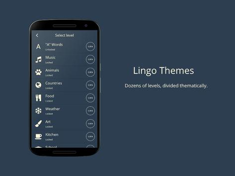 Lingo! Themes - Word game screenshot 1