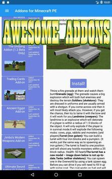 Mods & Addons for Minecraft PE (MCPE) apk screenshot