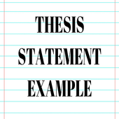 THESIS STATEMENT EXAMPLES icon