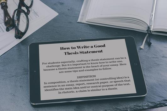 THESIS STATEMENT EXAMPLES screenshot 3
